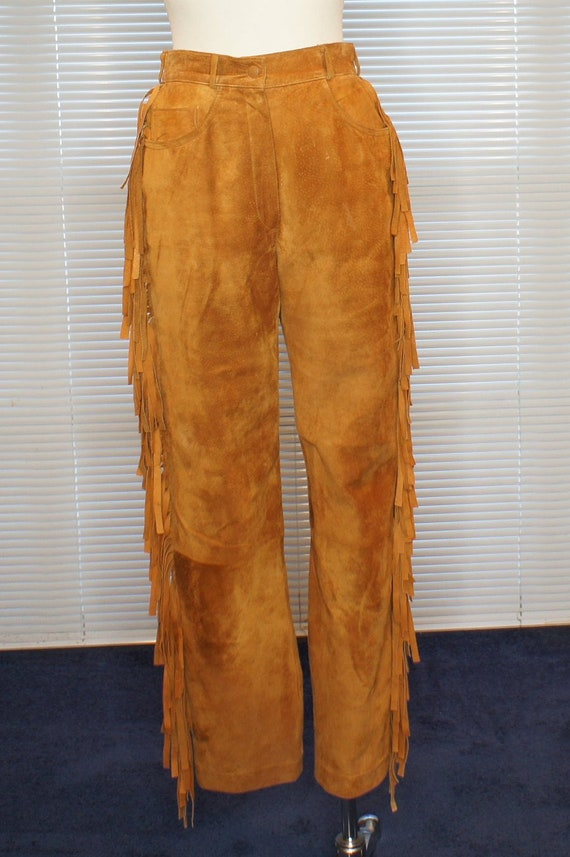 Fringed VINTAGE Suede Pants