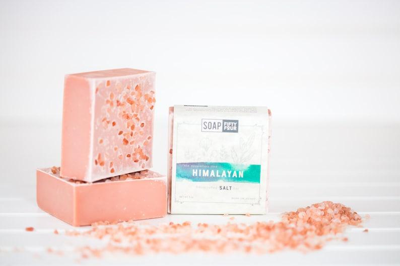 Pink Himalayan Salt Soap Salt Bar Essential Oils Soap Pink image 0