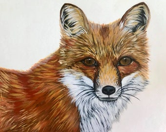"Fox, Art Print, ""Dale"", hand signed"