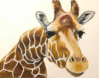 """Giraffe, Art Print, """"Zenith"""", hand signed"""