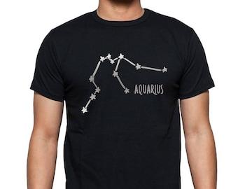 Aquarius Constellation t shirt, aquarius gift, aquarius tshirt, aquarius zodiac sign, aquarius astrological shirt, january february birthday