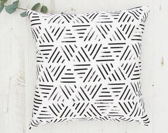 Geometric cushion, Home decor, Modern Throw Pillow, Black White Decorative Pillow, Black and White cushions  pillow covers, made in Britain