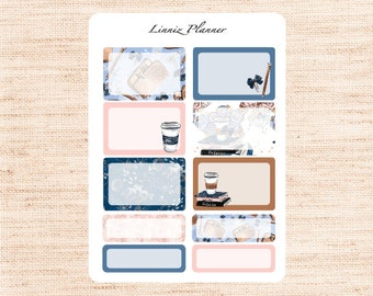 Pianificatore ragazza mezza e scatole di quarto (adesivo opaco planner, si adatta perfetta in Erin Condren Life Planner verticale)