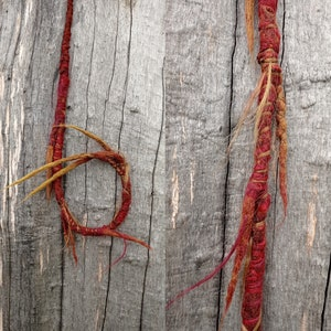 Dread Wraps Dreads Hippie Dreadlocks Festival Fairy Elf Hippy Earthy  Hair Wrap Single Ended Loop Forest Dark Psy