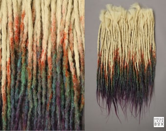 Blond Rainbow Dreadlocks Dreads 10-100 Pieces SE DE Synthetic Hair
