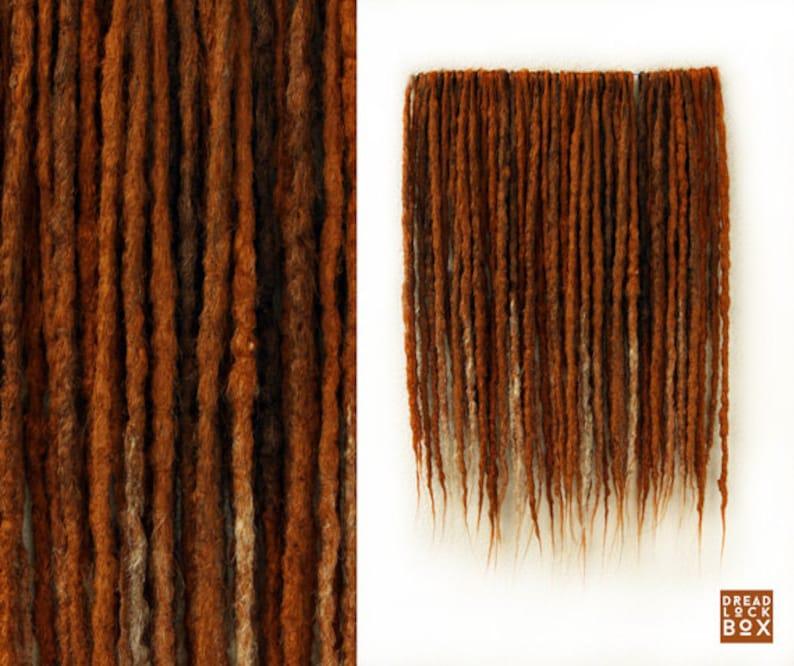 Ginger Synthetic Dreadlocks Crocheted Synthetic Dreads De Etsy