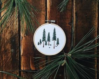 Pine Tree Embroidery Hoop