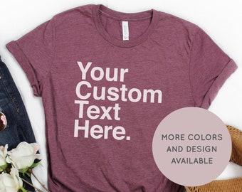 4ab8bd3b6 Personalized Shirt - Custom Shirt - Personalized T-shirt - List Shirt  Personalized - Typography Shirt - Custom List Shirt