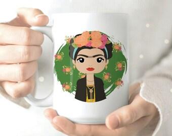 Frida Kahlo - Frida Kahlo Art - Viva La Frida - Cute Mug - Coffee Cup - Coffee Mug - Mexican Artist - Surrealism - Original Art