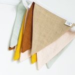 Colorful Pennant Bunting String Banner Flags Outdoor Indoor Flag Banner Linen Cloth Fabric Triangle Flags Decoration for Birthday Tent