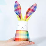 Rainbow bunny rabbit colorful baby fabric toy
