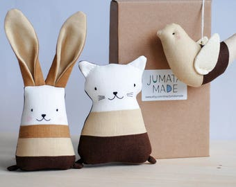 Boho Brown Gift For New Mom Newborn Basket Unisex Toys Set Stuffed