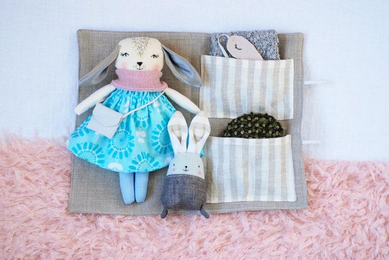 Dress up bunny rabbit doll play set heirloom keepsake rag image 0