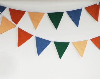 Bright fabric Pennant Bunting String Linen Banner Flags Outdoor Indoor Triangle Flags Decoration Tent
