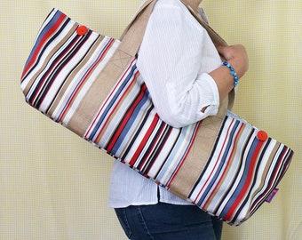 YOGA BAG - Stripes Print