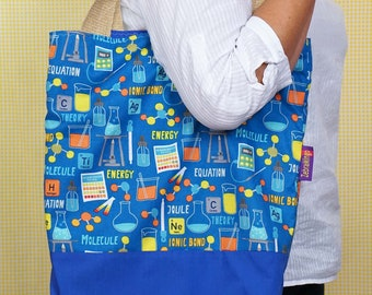 Chemistry themed bag!Periodic Table themed Bag-in-a-bag - handy bag in its own pouch.