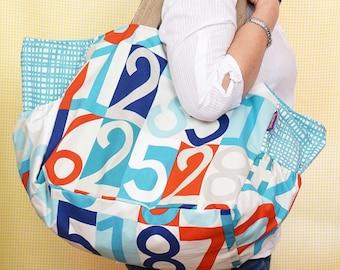 Beach Bag - Numbers theme