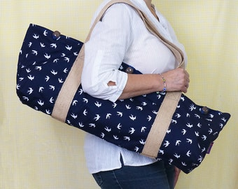 YOGA MAT BAG with Birds pattern