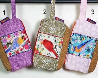 Washbag with waterproof lining - Birds theme