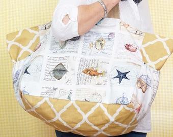 Beach Bag - Shellfish theme