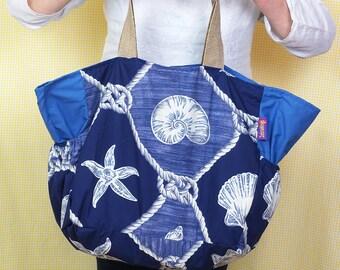 Beach Bag - Shells theme