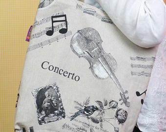 Love Classical Music? This music themed Bag-in-a-bag is so handy!