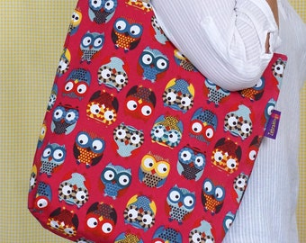 Owl themed Bag-in-a-bag - handy bag in its own pouch.
