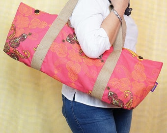 YOGA BAG - Hot Pink Print