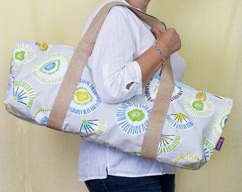 YOGA BAG with Flowers and fans pattern