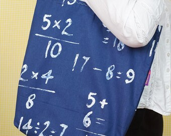 Maths-themed Bag-in-a-bag - handy bag in its own pouch - perfect for the mathematician in the family!