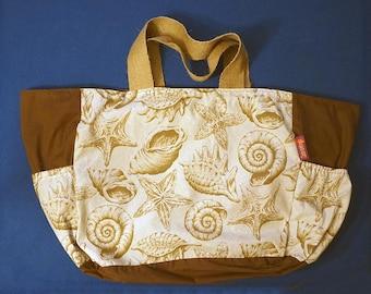 Beach Bag - sea shells / sea life theme