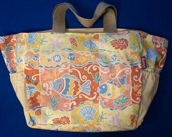 Beach Bag - colourful sea theme