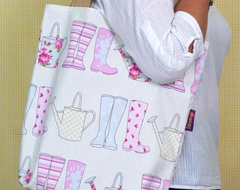 Garden themed Bag-in-a-bag - handy bag in its own pouch.
