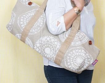YOGA BAG - White Mandala Print