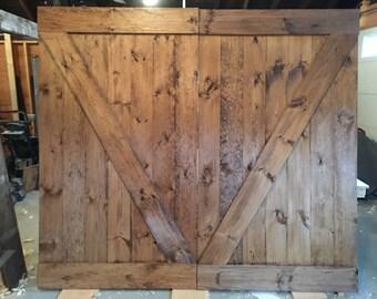 Custom, Made-To-Order Rustic Barn Door
