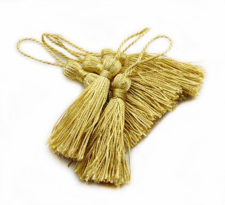Make Your Own Tassel Necklace: Yellow Tassels Tassel Charms Tassels Pendant 90mm Tassels