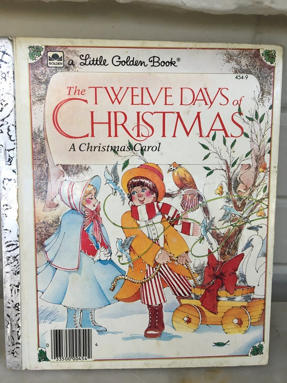 Twelve Days Of Christmas Book.Vintage The Twelve Days Of Christmas Book A Christmas Carol Little Golden Book Mike Eagle 1983 Children S Christmas Book Song Music Book