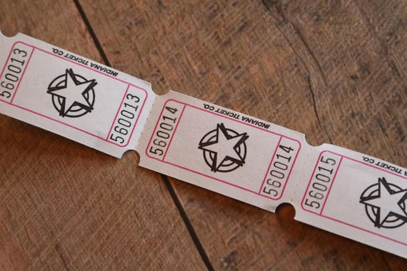 star numbered tickets etsy