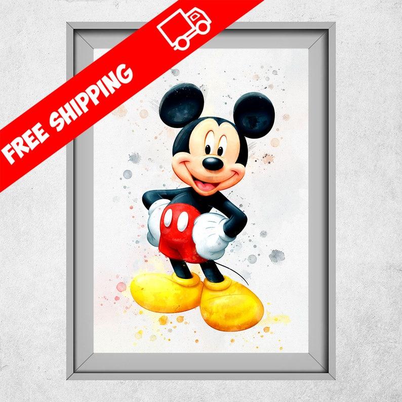 Mickey Mouse Kinderzimmer Dekoration Mickey Mouse Poster   Etsy