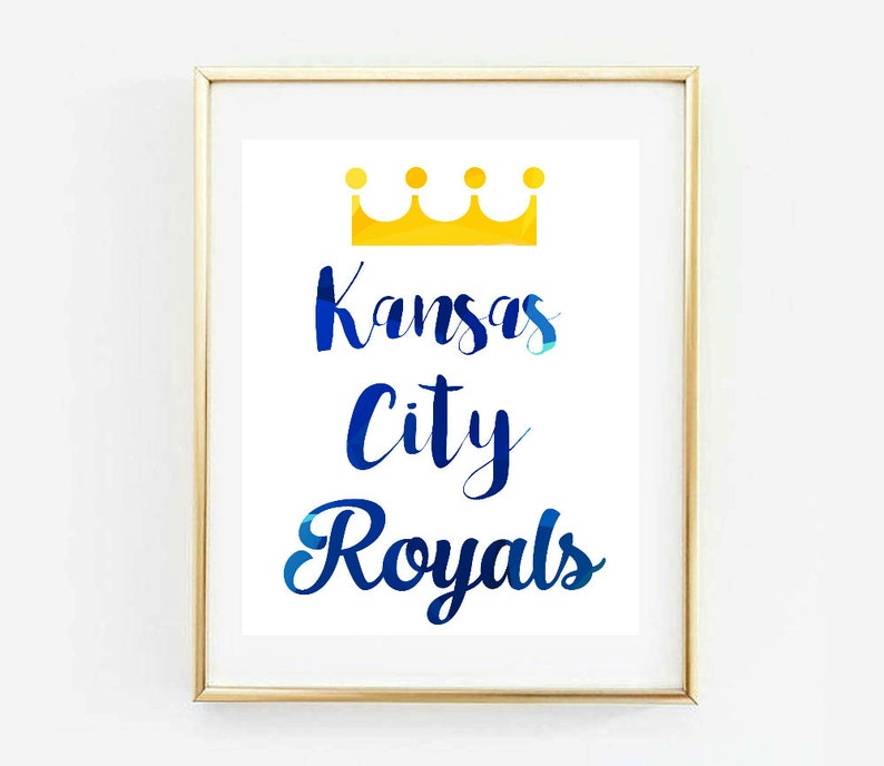 graphic regarding Kc Royals Printable Schedule titled Kansas Metropolis Royals, Royals Baseball, KC Royals, Royals Poster, Watercolor, MLB, Baseball Print, Artwork Print, Printable, Dwelling Decor, Wall Decor