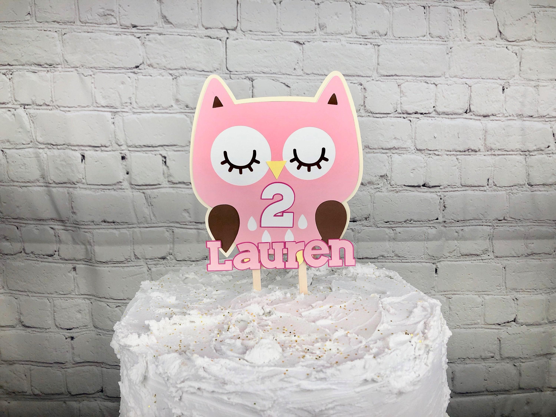 Brilliant Owl Cake Topper Owl Centerpiece Owl Birthday Party Decor Etsy Birthday Cards Printable Nowaargucafe Filternl