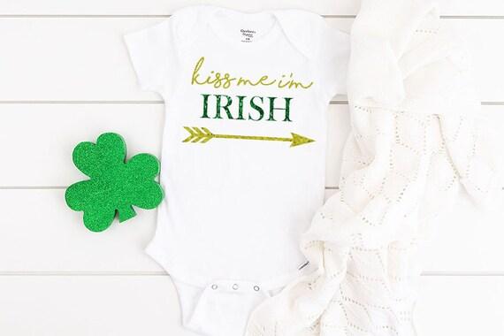 Little Charmer All-In-One Bodysuit  Irish baby vest  St Patricks Day baby all-in-one  Irish baby gift  gift for Irish baby  shamrock