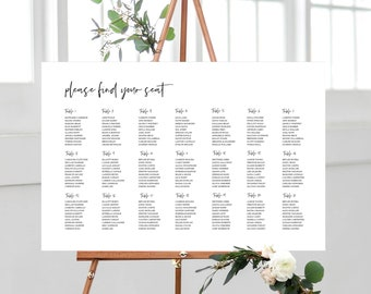 Minimal Seating Chart Template Sign 148