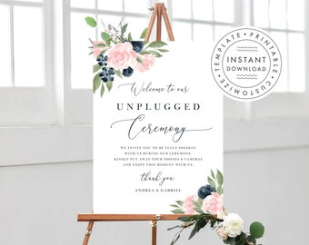 Unplugged Ceremony Sign 137V1WED