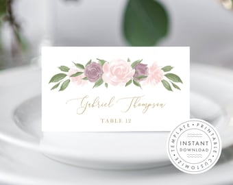 Place Card Template 137V4