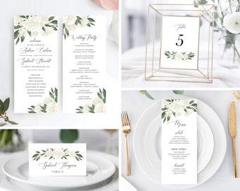 White Floral Greenery Wedding Day Bundle