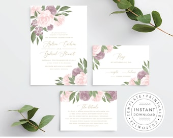 Wedding Invitation Template 137V4