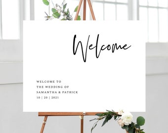 Minimal Wedding Welcome Sign Template, Instant Download Template, 148