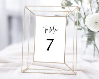 Minimalist Wedding Table Number Template, 4x6 and 5x7, Instant Download, 148