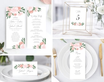 Pink and Coral Floral Wedding Day Bundle